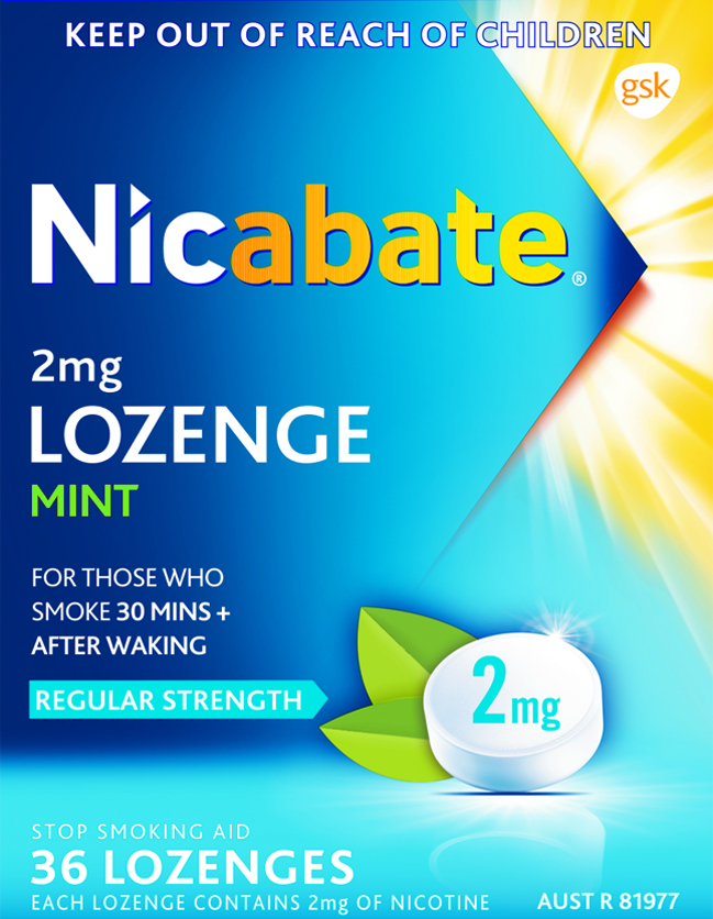 80666 Nicabate Lozenge Pack 2Mg 36S FLAT