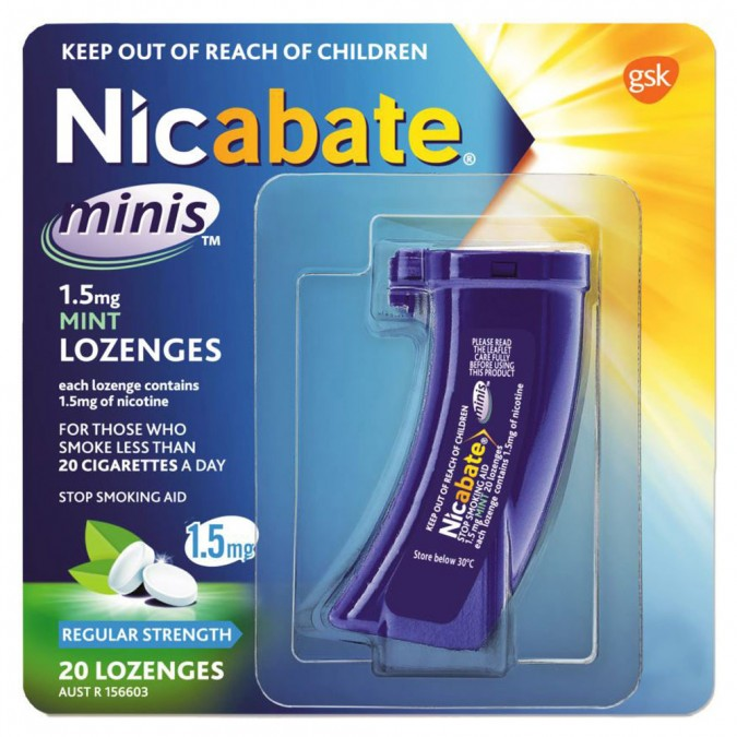 Nicabate Minis 15Mg 20 Lozenges