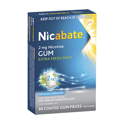 Nicabate Gum Extra Fresh Mint Regular 2Mg